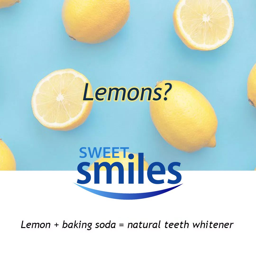 Lemons and Baking Soda for Teeth Whitening